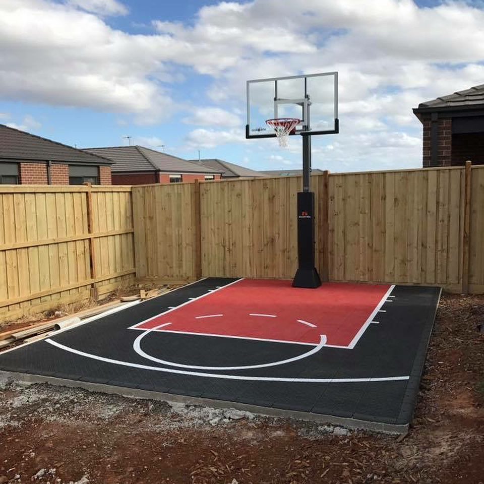 Home Basketball Court Free Throw Practice